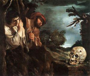 Guercino, Et in arcadia ego, 1618-1622, olio su tela, Roma, Galleria Nazionale di Palazzo Barberini