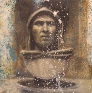 Massimiliano Alioto, Codex Corruptionis, 2013, olio su tela, 30x30