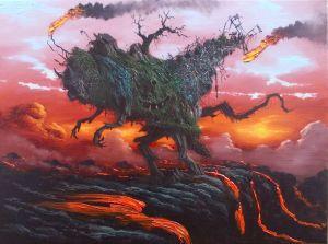 Fulvio Di Piazza, If I had the Tail, 2013, olio su tela, 30 x 40cm