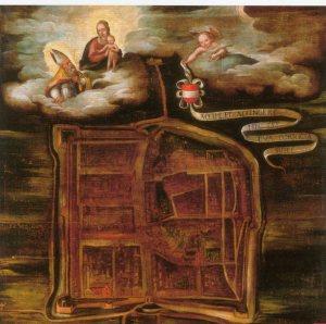 Pittore emiliano del XVII sec., Pianta di Correggio