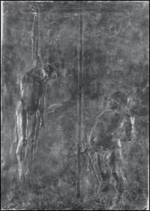 """Giacomo Manzù, """"il crocifisso e il generale"""", 1939-43"""