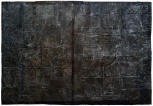 Luca Pignatelli, Cosmographie 8818, tecnica mista su carta, 272,7 x 400
