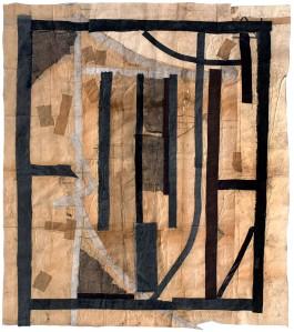 Luca Pignatelli, Icona, 2014, tecnica mista su carta intelata, 197 x 171,3
