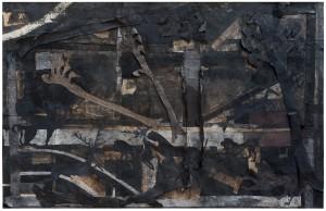 Luca Pignatelli, La caccia, 2014, tecnica mista su carta, 157 x 247,5