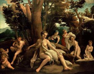 Il Correggio, Leda e il cigno, 1530-31, olio su tela, 152 x 191, Berlino, Gemäldegalerie