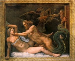 Giulio Romano, Giove e Olimpia, Mantova, Palazzo Te