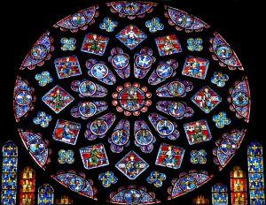 Chartres, Cattedrale, rosone del transetto nord
