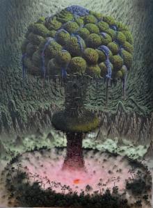 Fulvio di Piazza, Paesaggio a memoria, 2011, olio su tela, 150 x 110