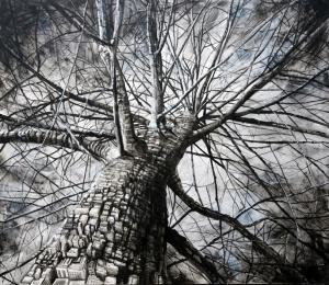 Fabio Giampietro, Metamorfosi Naliboki, 2014, olio su tela, 150 x 170