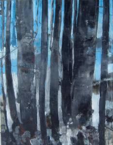 Giovanni Frangi, Il fischio della marmotta, 2009, olio su tela, 260 x 203