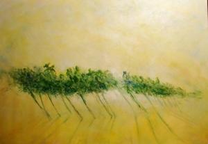 Giorgio Linda, Am Israel Chai, 2014, olio su tela, 50 x 70