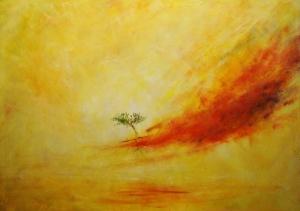 Giorgio Linda, Uomo-Albero, 2014, olio su tela, 50 x 70