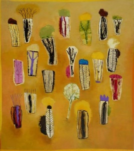 Hana Siberstein, Il bosco degli innocenti, 2014, acrilico su tela, 80 x 90