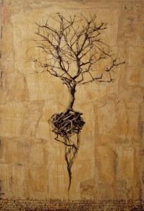 Hyena, Roots, 2009, tecnica mista su tela, 130 x 90