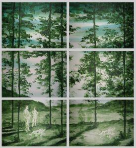 Pierluigi Pusole, Experiment (serie b), 2011, acrilico e acquerello su tela, 150 x 140