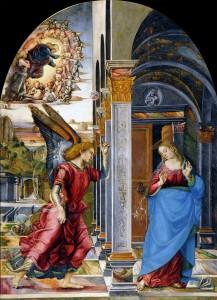 Luca Signorelli, Annunciazione, 1491,  Pinacoteca Civica, Volterra