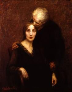 Raffaele Borella, Le due madri,  1918, collezione Intesa Sanpaolo