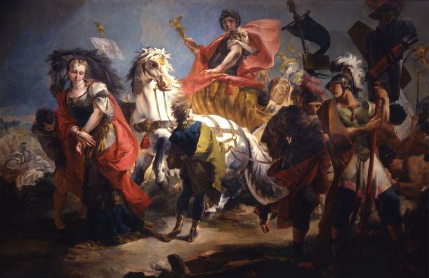 Giambattista-Tiepolo-Trionfo-di-Aureliano-1718-ca-Torino-Galleria-Sabauda-
