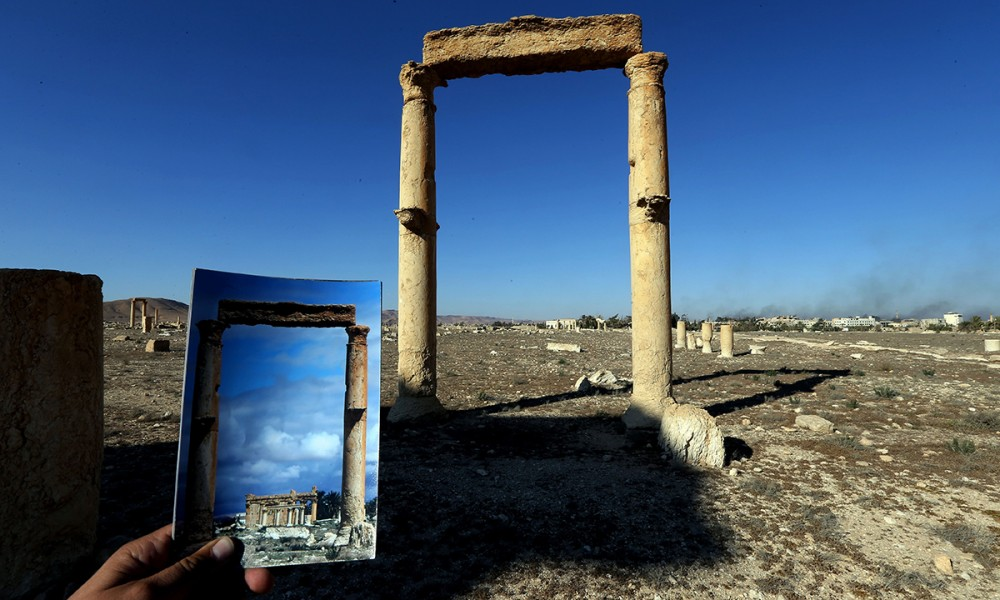 Palmira_il tempio di Baashamin_31032016_JosephEid_afp_getty images