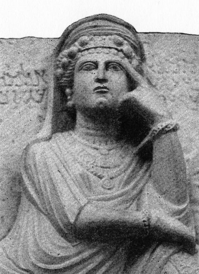Zenobia_regina_di_Palmira, Damasco, Museo Archeologico Nazionale